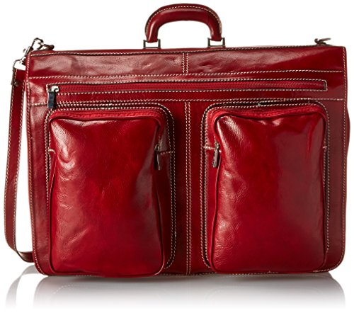 Floto Luggage Venezia Garment Bag, Tuscan Red, Large