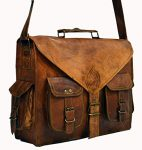 HLC ABB Vintage Handmade Leather Messenger Bag for Laptop Briefcase Satchel Bag 18 INCH