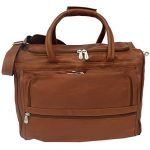 Piel Leather Traveler Computer Carry-All Bag in Saddle