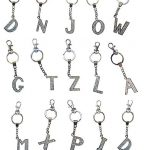 AM Landen Rhinestone Bling Alphabet Letters Keychain Key Ring Handbags Charm Best Friend Keychain
