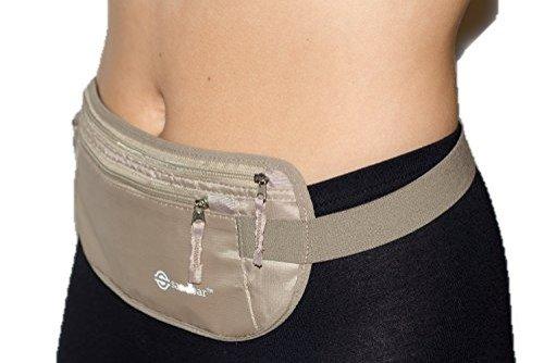 Money Belt for Travel / Hidden Waist Wallet for Men and Women - RFID Blocking