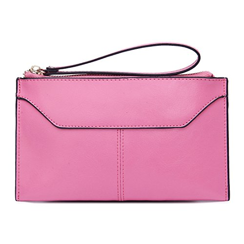 Missmay Women's Genuine Leather Wristlet Clutch Purse Wallet Handbag Envolope