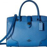 COACH Women's Mixed Leather Mercer 30 Satchel DK/Lapis Handbag