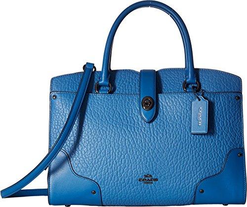 COACH Women's Mixed Leather Mercer 30 Satchel DK/Lapis Handbag