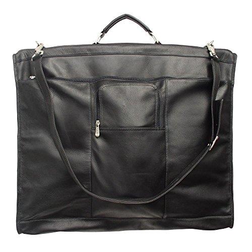 Piel Leather Piel Colombian Leather Elite Garment Bag Black
