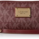 Michael Michael Kors Jet Set Travel Large Coin Multifunction Wallet (Merlot Signature)