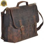 TONY'S BAGS Crazy Horse 15.6 Inch Retro Buffalo Hunter Rustic Leather Laptop Messenger Bag Office Briefcase College Bag