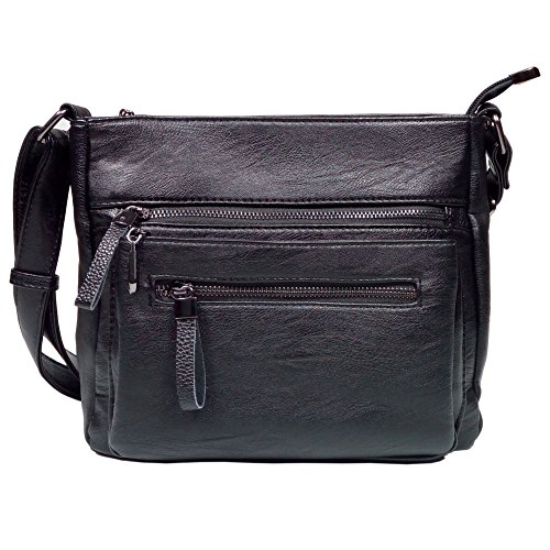 BINCCI Leather Crossbody Bag Women's Shoulder Handbag for Work, Leisure, Travel BL001A