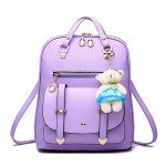 Hynbase Fashion Womens Girls Summer Watermelon Skin Backpack Leather Shoulder Bag Purple