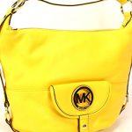 Michael Kors Fulton Large Citrus Yellow Leather Shoulder Bag