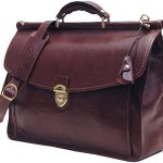 Firenze Dowel Messenger Brief in Brown Italian Calfskin Leather by Floto