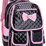 Gazigo Reflective Girls Cute School Backpack PU Leather Kids Bookbag Satchel