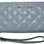 Michael Kors Jet Set Travel Continental Zip Around Wallet Quilted Leather Handbag Purse