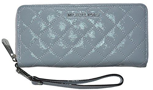 Michael Kors Jet Set Travel Continental Zip Around Wallet Quilted Leather Handbag Purse