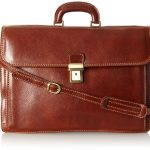 Floto Luggage Italian Firenze Brief, Brown, Large