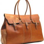Floto Lugano Duffle in Olive (Honey) Brown Italian Calfskin Leather