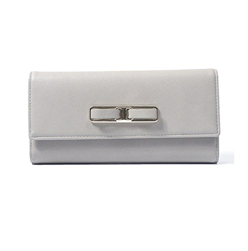 Women Leather Wallet Buckle Clutch Lady Long Purse Zipper Elegant Handbag Card Holder