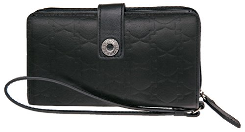 Harley-Davidson Women's Down Home B&S Leather Phone Wristlet HDWTC10938-BLK