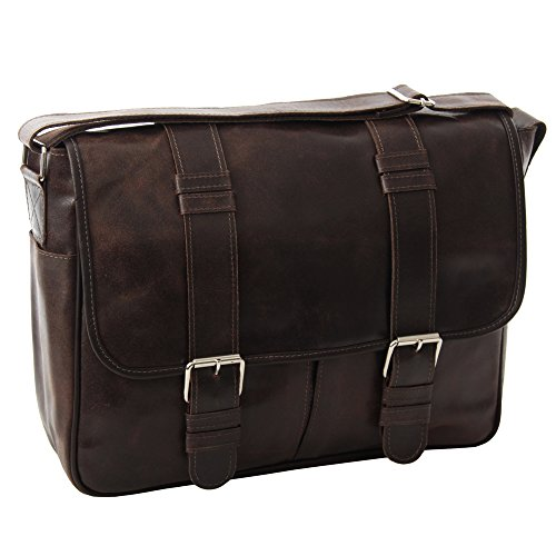 Piel Leather Vintage Everyday Messenger, Vintage Brown, One Size