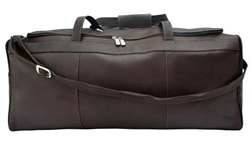 Piel Leather Traveler's Select Large Duffel Bag in Chocolate