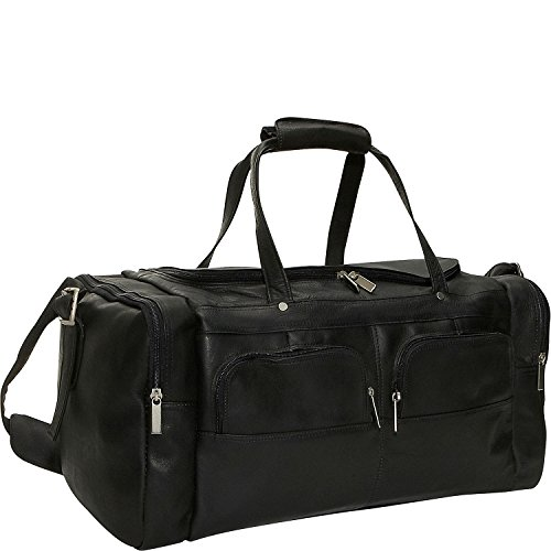 David King Leather Multi Pocket Sport Duffel in Black