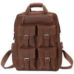 Best Mens Briefcase Italian Genuine Leather,Shoulder Computer/Laptop Bag for men (One Size, 5102-Deep Brown)