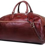 Floto Collection Sport Duffel Bag, Leather Travel Bag in Brown