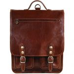 Floto Poste Backpack / Crossbody in Brown Full Grain Calfskin Leather