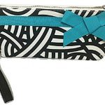 Lindsay Phillips Cocoa Wristlet Take-Along Zippered Wallet Clutch Purse With Strap Fit iPhone Plus Phones