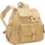 David King & Co. BackPack with Flap-Over Pockets, Tan, One Size