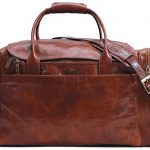 Floto Leather Cargo Duffle Bag Carryon Travel Bag Large