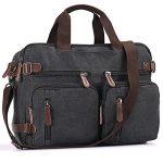 Mupack Vintage Canvas Laptop Backpack Messenger Bag Hybrid Briefcase Backpack Vintage Rucksack Satchel
