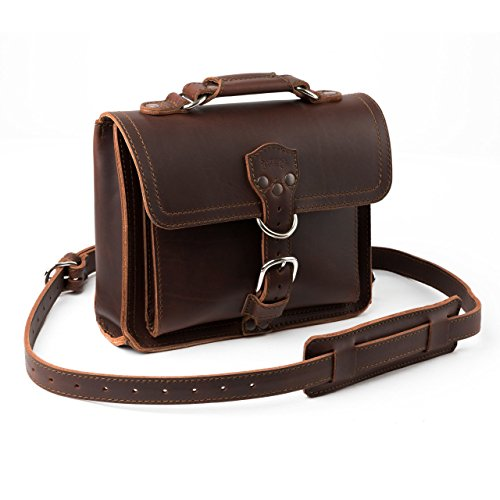 Saddleback Leather Tablet Bag - Best Leather iPad Satchel for Men and Women - 100 Year Warranty