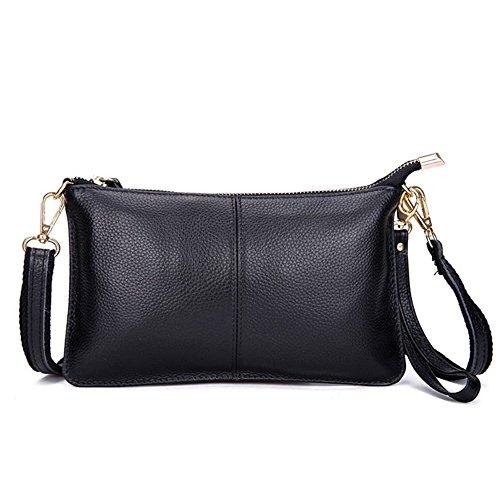 Mynos Genuine Leather Vintage Small Women Crossbody Bag Clutch Purse Wristlet