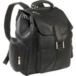 David King Leather Top Handle X Large Backpack in Black