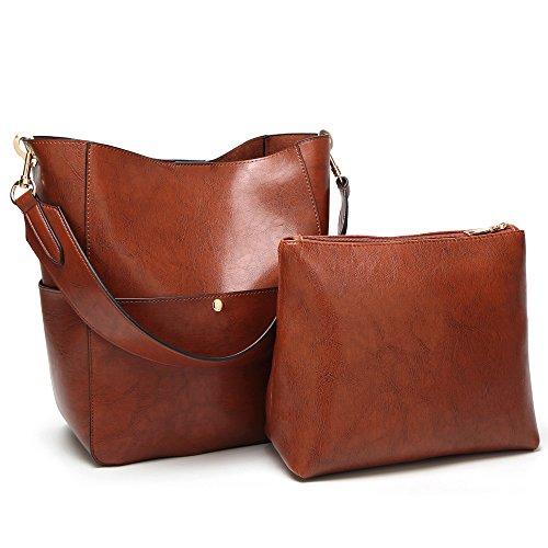 COCIFER Women Top Handle Handbags Tote Purse Shoulder Bag Wallet Set