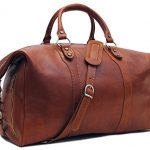 Floto Roma Travel Bag, Leather Duffel Bag in Brown