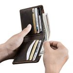 Homodo Bifold Slim Handmade Vintage Genuine Leather Wallet and Credit Card Holder Cash Purse Money Clip