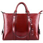 S-ZONE 3-Way Women Genuine Leather Shoulder Bag Work Tote Handbag