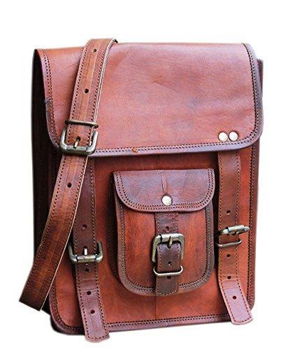 Leather 11 Inch Sturdy Leather Ipad Messenger Satchel Bag Tablet satchel crossbody shoulder bag
