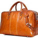 Floto Luggage Venezia Trunk Duffle Bag in Olive (Honey) Brown Leather