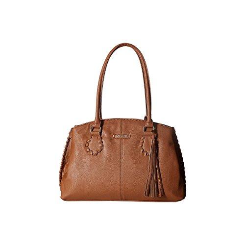 Nine West Womens World Whip Faux Leather Triple Entry Satchel Handbag