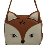 Unionbay Boho Clutch - Large Size Wallet - Crossbody Hipster Bag Fox / Floral / Cat Boho Print on Canvas (Cognac Fox)