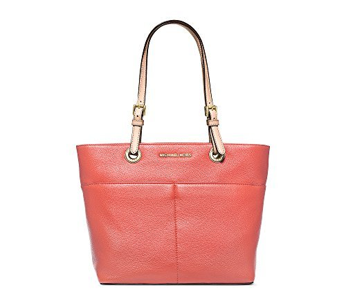 MICHAEL Michael Kors Bedford Jet Set Top Zip Tote (Medium, Pink Grapefruit)