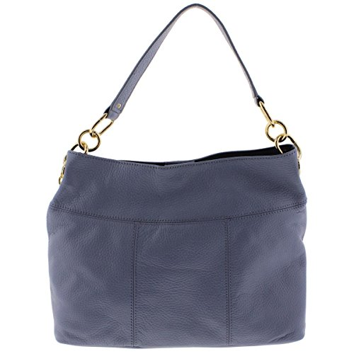 Tommy Hilfiger Womens Leather Signature Hobo Handbag