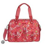 Oilily Luxurious Carry All Medium Top Handle Floral Hand Bag - Oilily Classic Ivy Carry All TANGARINE