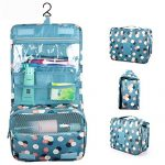 Bathroom Organizer Travel Nylon Portable Hanging Toiletry Cosmetic Bag by 90 Points for Women and Men, Assorted Colors