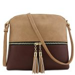 Tassel Accent Medium Crossbody Bag