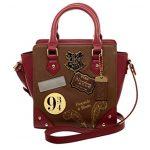 Women's Deluxe Harry Potter Hogwarts Mini 9 3/4 Handbag Purse Train Faux Leather
