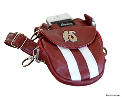 Hipzbag - Red Sporty Faux Leather Bag